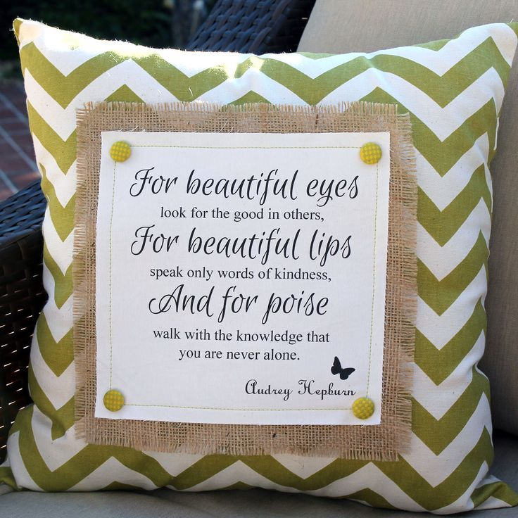 A Little Southern Sass pillows - Audrey Hepburn, 18x18 $40.  Contact us at www.facebook.com/... OR email me at mailto:alittlesou...