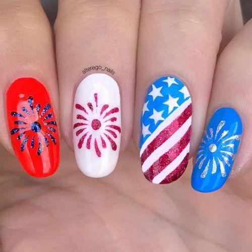 30 Fun Easy Nail Designs To Celebrate Labor Day Simple Nail Designs Cool Nail Designs Patriotic Nails Design