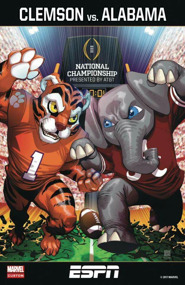 Clemson vs Alabama Football ESPN National Championship. Roll Tide Roll