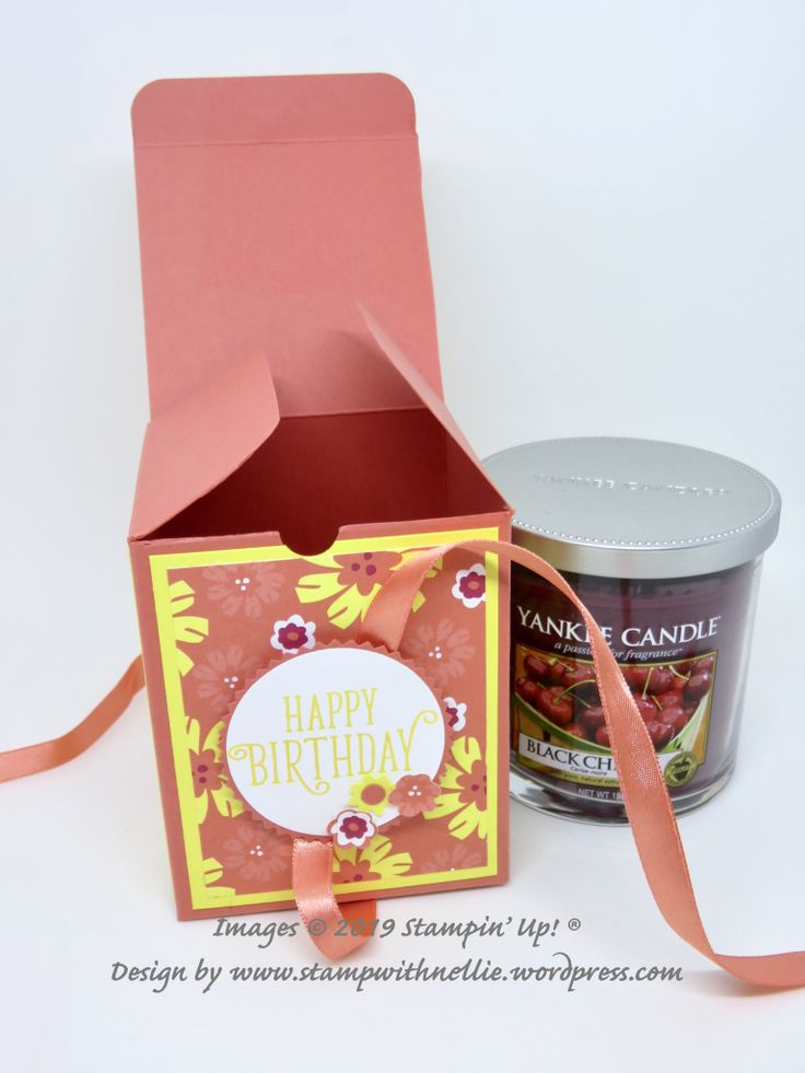 Birthday box for a yankee jar candle candle gift box