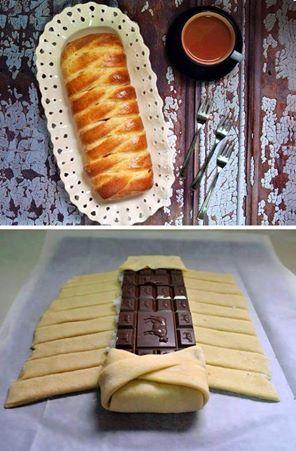 RECETTE NORMANDE/ Ce que vous pouvez faire avec la pâte à brioche ou de la pâte feuilleté .... Facile/ rapide et super bon....