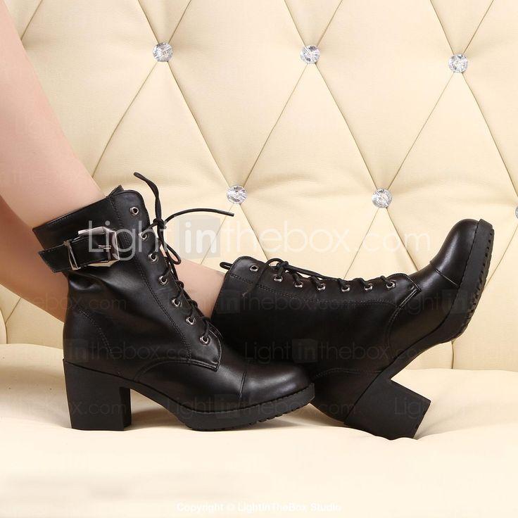chaussures pour femmes à bout rond bottes talon épais de la cheville plus de couleurs disponibles - EUR € 36.35