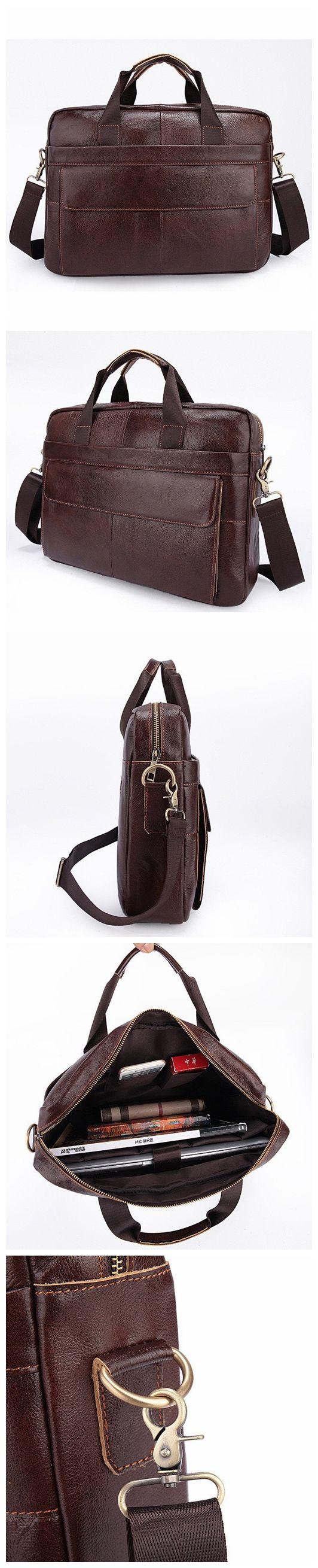 Genuine Leather Briefcase, Laptop Bags, Men's Shoulder Bags, Attache Case 80022