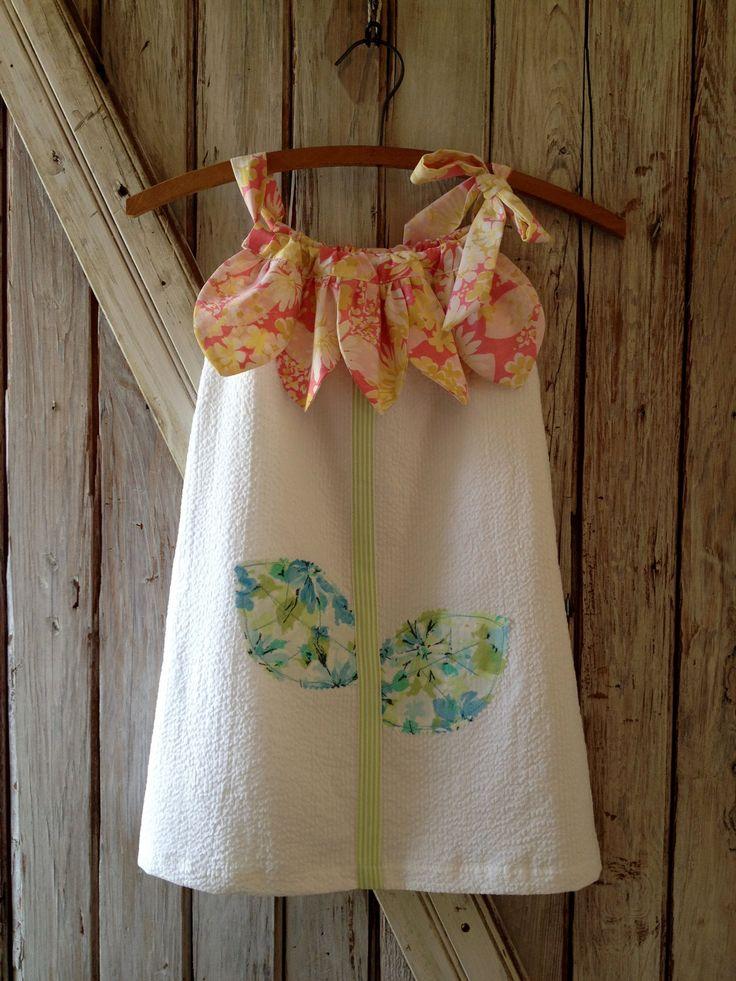 Sunny Flower Pillowcase Dress - Girl Sewing Pattern - PDF Pattern Tutorial Easy Sew Sizes thru 10 included & 11 best little girl sun dresses images on Pinterest | Sun dresses ... pillowsntoast.com