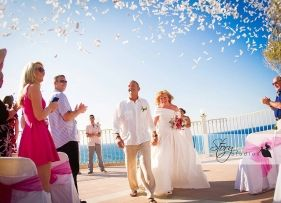 Real Zakynthos Wedding Photos - The Balcony - Helen and Paul Radcliffe
