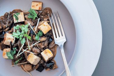 Wok-braised eggplant and tofu