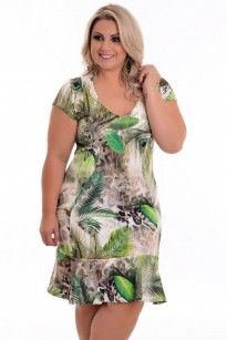 Vestido Plus Size Nature Green