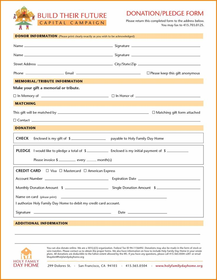 Blank Sponsorship Form Pledge Forms Pinterest - blank sponsor form