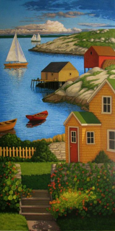"<b>Up the Coast</b><br>2011<br>Oil on Canvas<br>60"" x 30""<br>Private Collection"