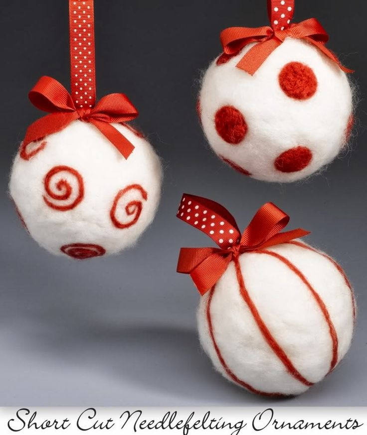 I was searching online for inspiration for making more needle felt Christmas ornaments when I came across a tutorial for making these bau...