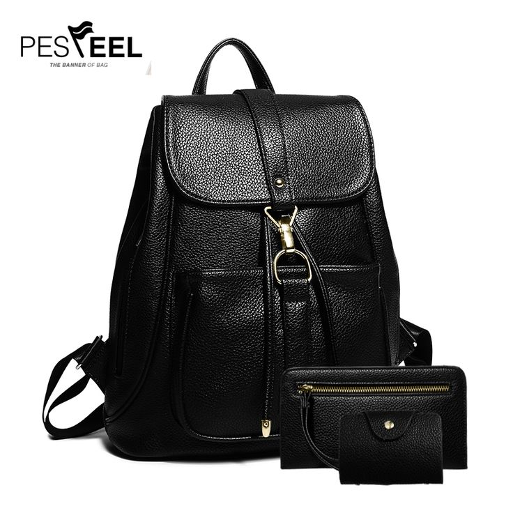 2017 New Ladies Backpack Bag Fashion Leather Backpack