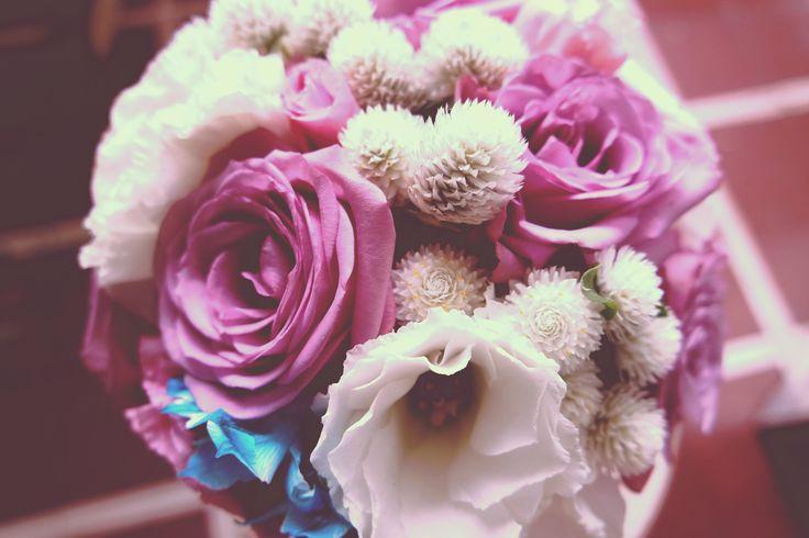 bouquet novia, vintage romantico, rosas