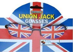 Party Glasses, Union Jack/Great Britain, Fancy Dress, Patriotic Festival Specs. | eBay