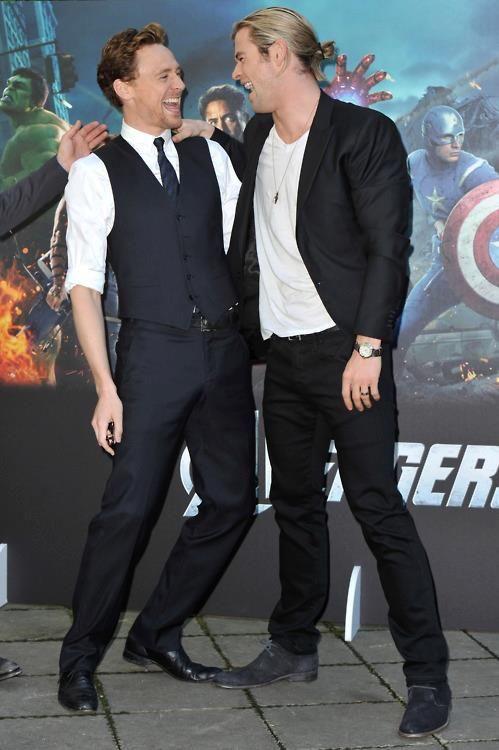 Tom and Chris: Chris Hemsworth, Chrishemsworth, Trav'Lin Lights, Loki, Nor God, Toms Hiddleston, Bromanc, Free Stuff, The Avengers