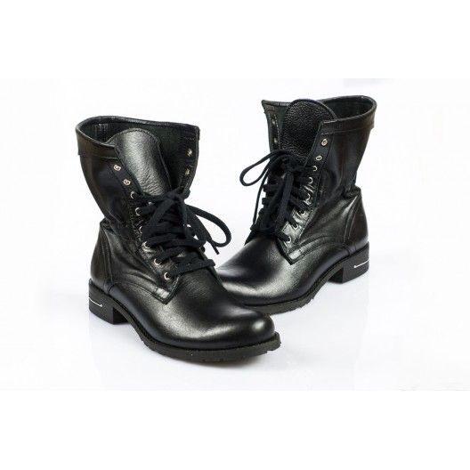 Dámske topánky - čierne, šnurovacie - manozo.hu