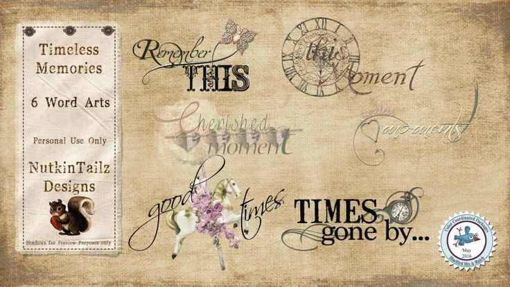 Timeless Memories Word Art