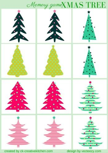 #CHRISTMAS - #MEMORY #GAME FREE PRINTABLE