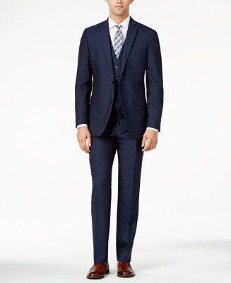 Bar III Midnight Blue Slim-Fit Suit Separates - Suits & Suit Separates - Men - Macy's