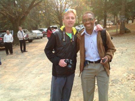Craig Fry and Celi Makhoba, Head Technical KZNA #MandelaMarathon