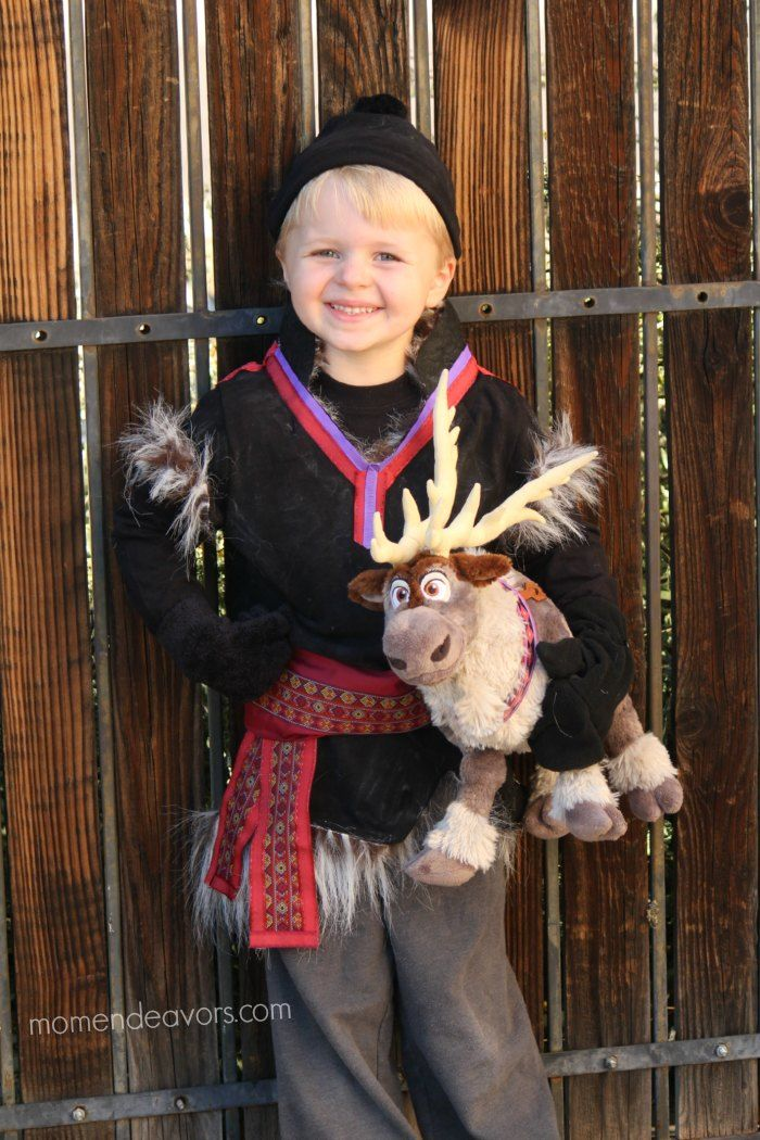 DIY Disney Frozen Kristoff Costume - it's no-sew ...