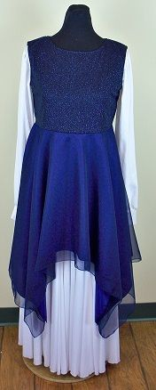 Sleeveless Soft Glitter Dance Top w/double skirt - Click Image to Close