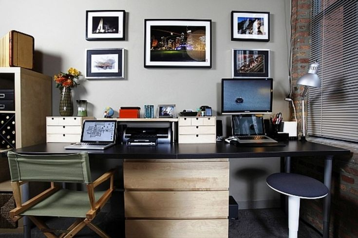 1000 ideas about two person desk on pinterest 2 person desk desks and home office. Black Bedroom Furniture Sets. Home Design Ideas