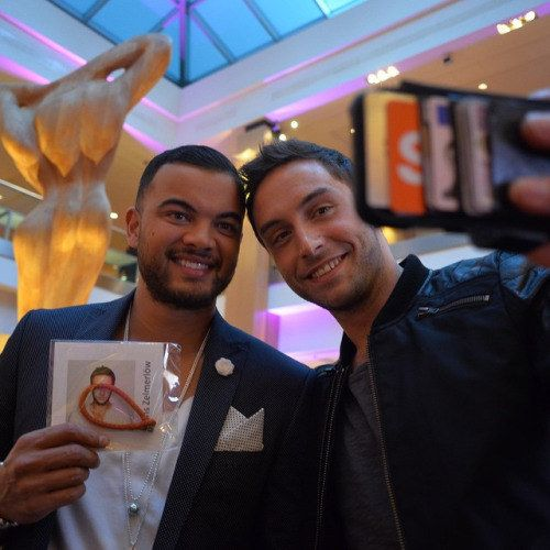 And now our countries are best friends!   Community Post: The Glorious Bromance That Is Måns Zelmerlöw And Guy Sebastian