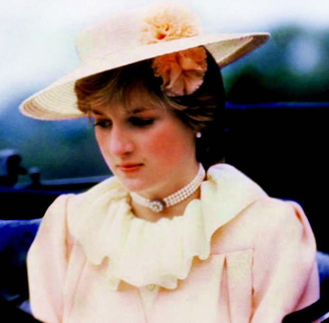 Ascot June 18, 1981~~Lady Diana looking pensive & pretty on her carriage ride to Ascot.