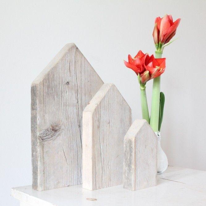 Huisje van steigerhout met schuin dak - Het Noteboompje