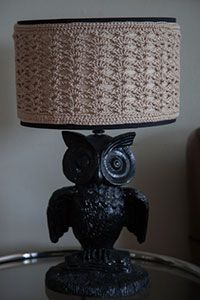 Crochet Lampshade Cover - I'm not sure how I might use this idea, but I'm intrigued.  Perhaps a different pattern?  :-)