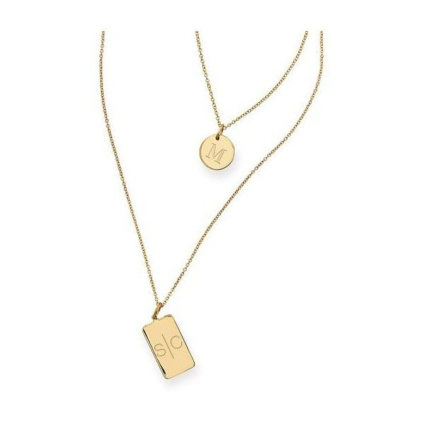 Mark & Graham Aria Layered Necklace ($278) ❤ liked on Polyvore featuring jewelry, necklaces, charm necklaces, letter charms, heart necklace, engraved necklace and letter charm necklace