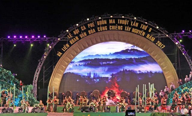 Opening ceremony of the 6th Buon Ma Thuot Coffee Festival and Central Highlands Gong Culture Festival 2017