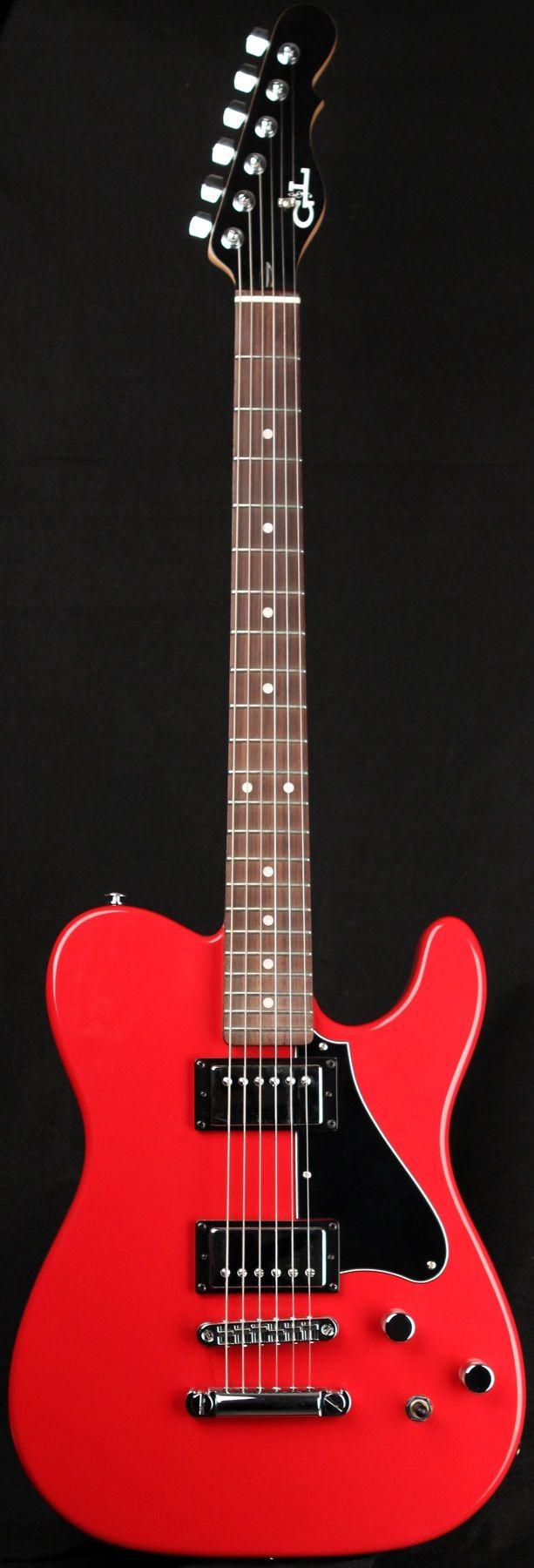 G&L Guitars ASAT® Deluxe II,  Flame Red over Alder