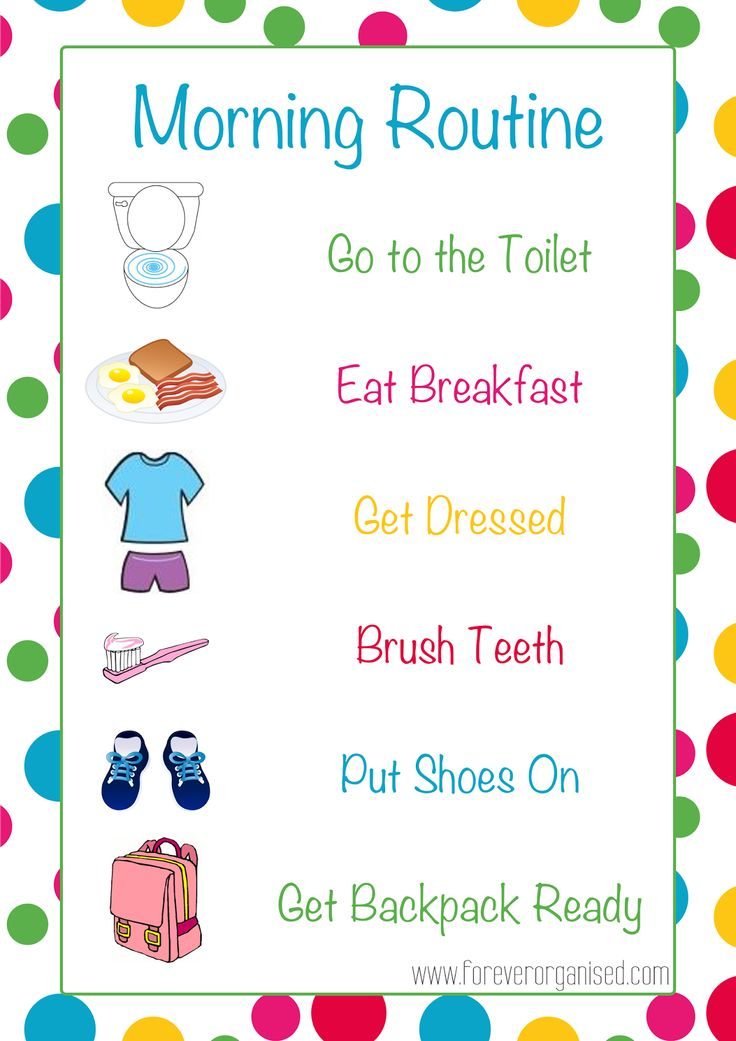 Morning and Bedtime Routines for Kids - www.foreverorganised.com