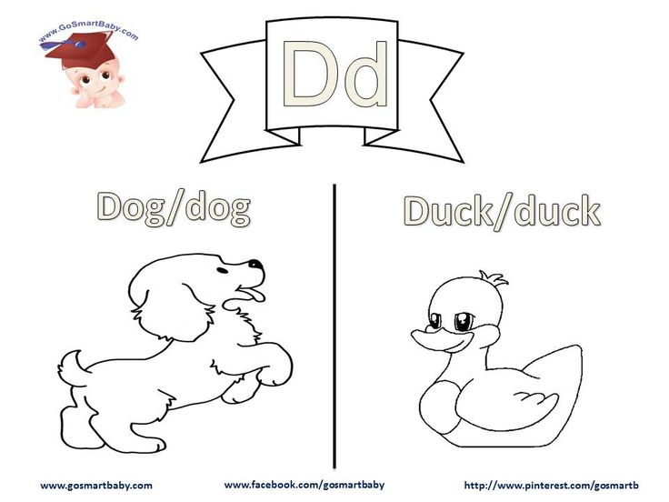 In this worksheet, letter D, a Dog and a Duck are two things your child can easily relate to in their daily life. Help them color each word in uppercase and in lowercase, then enjoy coloring the object itself with the color of their choice.