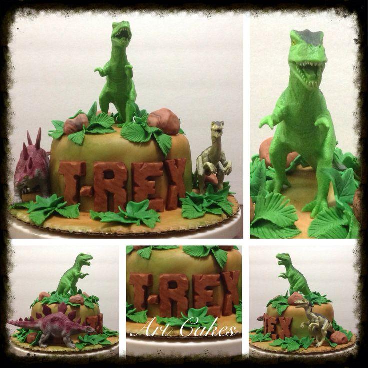 T rex cake bizcochos para cumplea os de ni o pinterest - Bizcocho de cumpleanos para ninos ...