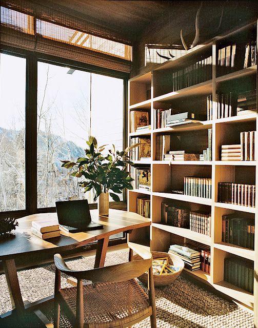 View, Wegner chair, bookshelves, texture.