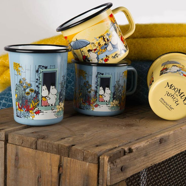 Moomins on the Riviera Mug Moominhouse, 37cl $26. - RoyalDesign.com