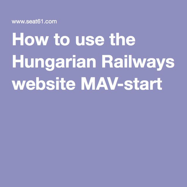 How to use the Hungarian Railways website MAV-start