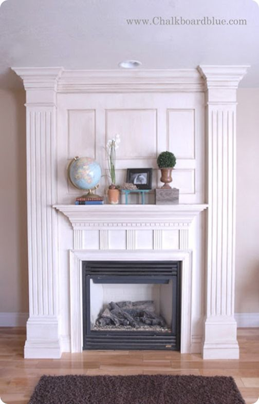 bookcases by fireplace | Michelle was inspired by this fireplace that is featured in Martha ...