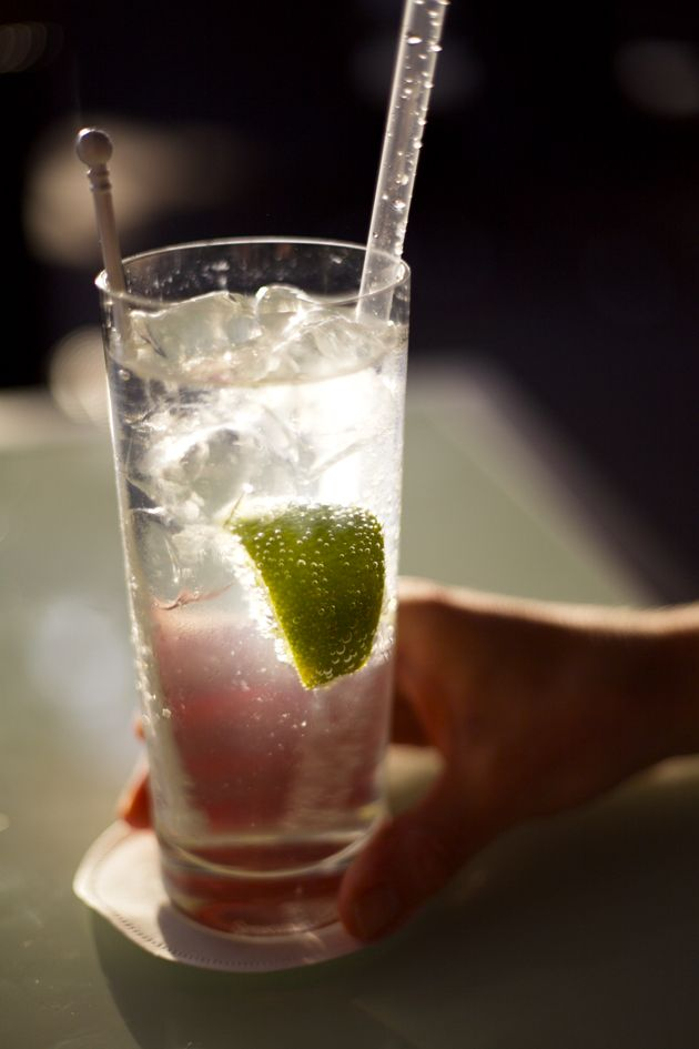 At just 97 calories, a gin and tonic is a relatively healthy option.