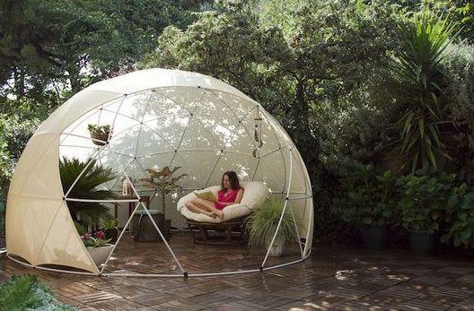 garden igloo – transparent canopy – geodesic dome