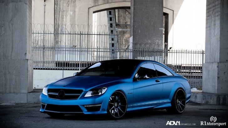 Mercedes CL63 AMG Gets Matte Blue Wrap and ADV.1 Wheels [Photo Gallery]