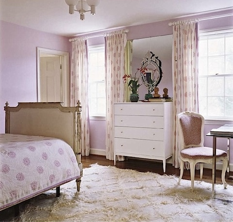 pink brown and cream girls bedroom