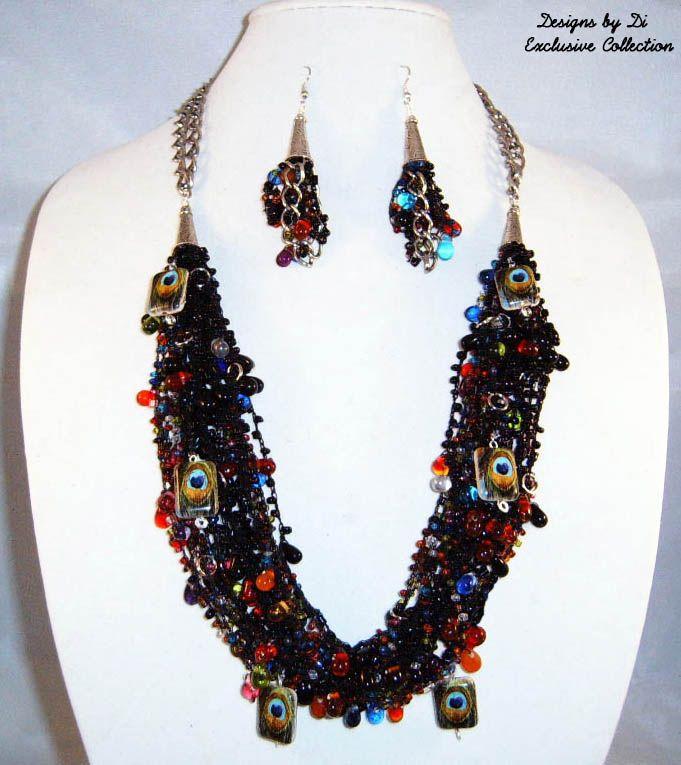 Peacock Fantasy Necklace Set