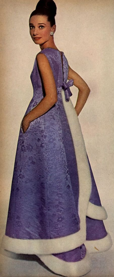Audrey Hepburn for Vogue; November, 1964. Photographer: Irving Penn.  Gown by Givenchy.