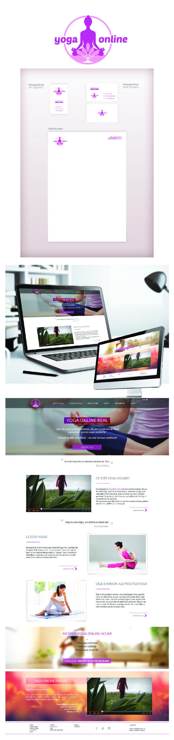 Logo - Business card - Header - Website design - Yoga Online, Romania #1 online yoga community