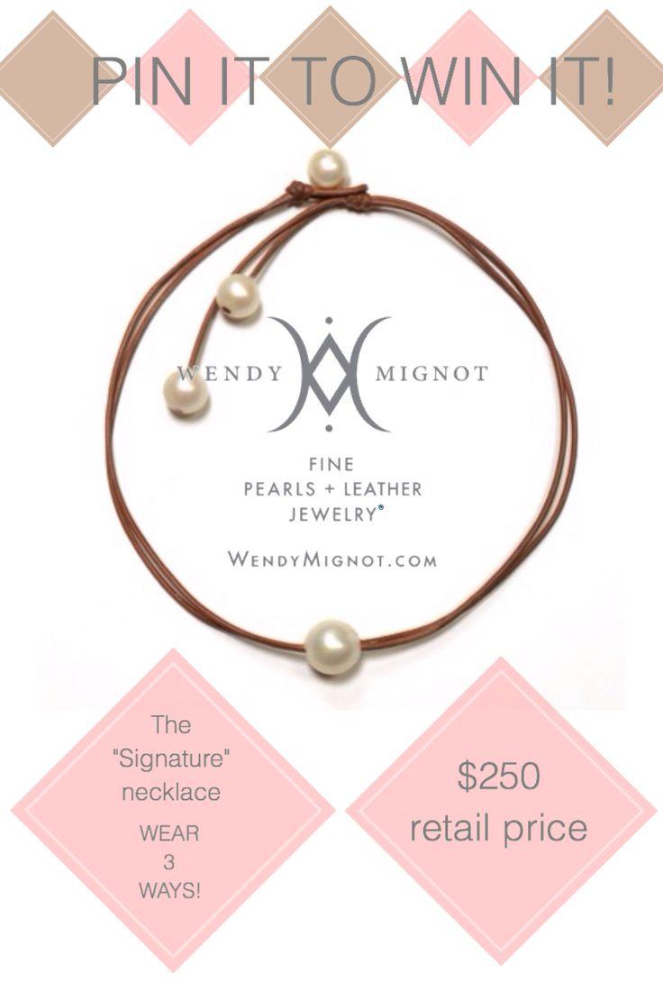 Enter at woobox.com/py7vnq #wendypearls wendymignot.com