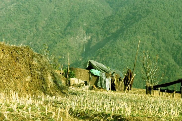 Beautiful Gurung village from Gorkha Nepal