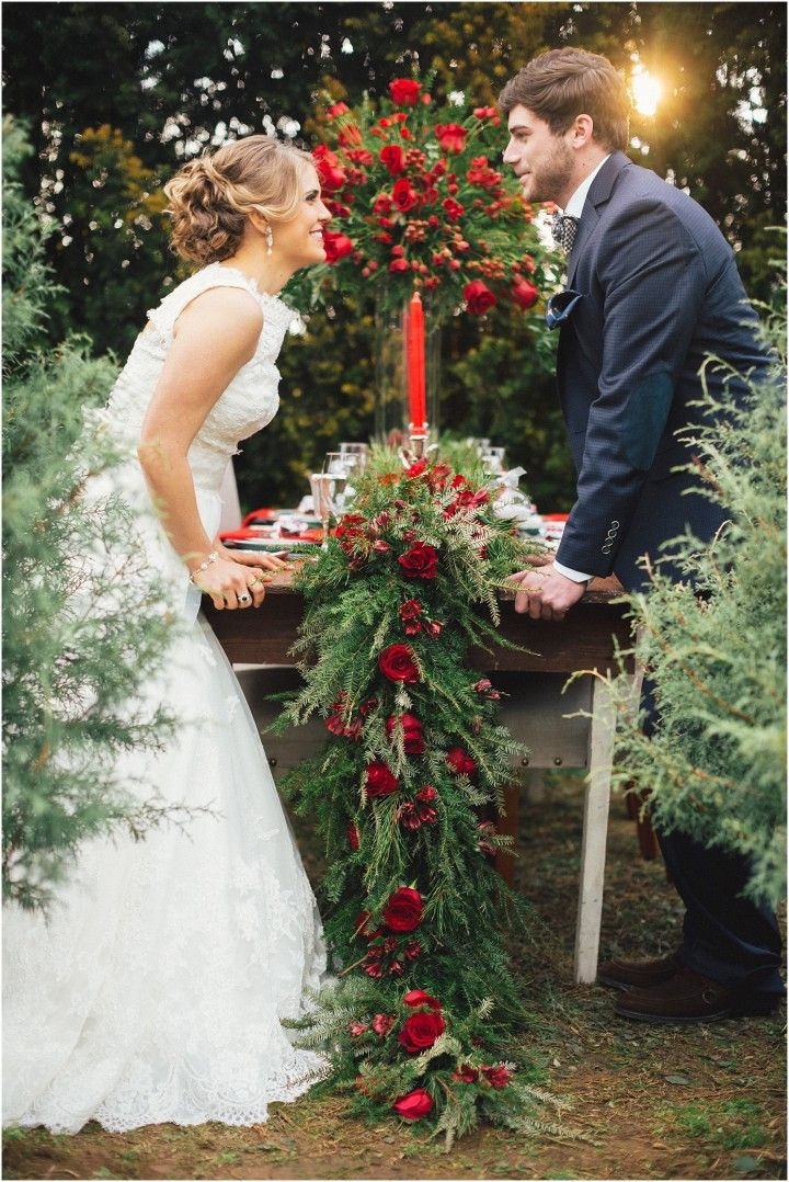 Christmas Tree Farm Wedding Inspiration And Holiday Home Decorating Ideas In Knoxville Tn Winter Wedding Ideas With Red And Green Accents